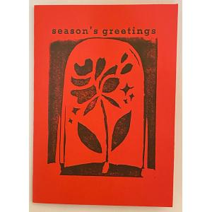 Greeting Card with Rose Print on Front