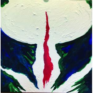 The Greenfield Gallery presents Carolyn Todd, guest curated by Tamar Russell Brown of Gallery Sitka™. Displayed here is the painting 'Bleeding Heart' by Carolyn Todd.